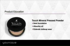 Have you tried our Younique Pressed Powder Foundation yet? It sets foundation, absorbs oils and Extends your make up wear!!! All while been natural!! what else can we ask for!! come check it out!!