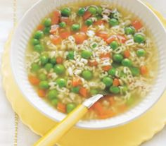 Peas and Carrots Alphabet Soup for Gabriel
