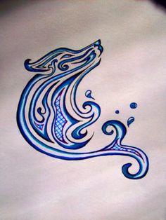 Wolf Tattoo Water-.