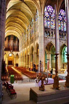 Saint-Denis Basilica in Paris. #MostBeautifulArchitecture #Paris