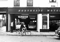 A snapshop of Northgate Street,Gloucester,taken in early a choice of cars in Northgate Motors - a Ford Anglia or a ford Corsair - both priced at ! Ford Anglia, Gloucester, Garages, Bristol, Used Cars, Motors, English, Bath, History