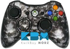 Reaper Skulls Xbox 360 Controller - KwikBoy Modz #customcontroller #moddedcontroller #reaperskulls #reaperskullcontroller #skulls #xbox360 #xbox360controller