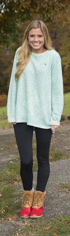 Cozy up in the new Terry Cloth Pullover. Perfect weight for every fall outing!