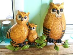 vintage 1970s Hippie Culture woodland OWL by OurVintageHouse, $24.00