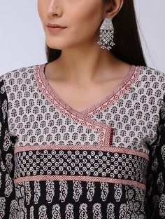 Buy Black Ivory Bagh Printed Cotton Kurta Women Kurtas Online at Jaypore.com