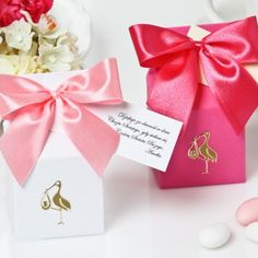 Podziękowania Bocian Chrzciny Roczek Beauty Boutique, Diy And Crafts, Place Cards, Place Card Holders, Gift Wrapping, Big Shot, Gifts, Gift Boxes, Presents