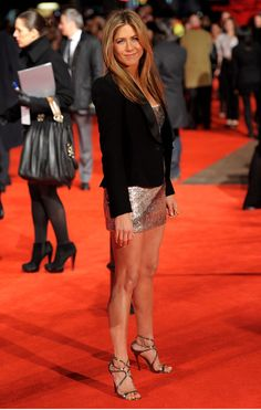 "Jimmy Choo Shoes | Jennifer Aniston attends the UK film premiere of ""The Bounty Hunter"" at Vue West End on March 11, 2010 in London, England."