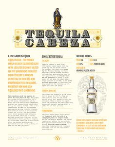 Sell sheet for Tequila Cabeza by United Creatives.
