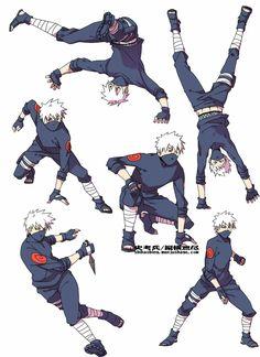 Kakashi doing some awesome moves XD