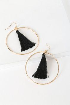 Dangle black earrings Statement crochet earrings Black drop handmade macrame Homemade earrings Hypoallergenic jewelry Long gothic earrings