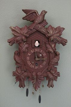 Lux Clock Small Cuckoo Clock Cuckoo Clock Miniature by JITTT, $45.00