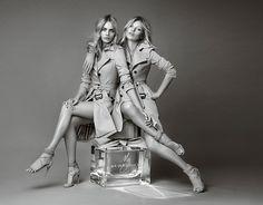"Kate Moss et Cara Delevingne, les filles ""My Burberry"""