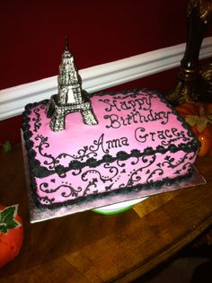 All In Butter Cream With A Rice Krispie Eiffel Tower