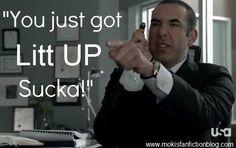 """Suits. Louis Litt: """"You Just Got Litt UP Sucka!"""" - Hahahaha!"""
