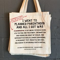 All proceeds will be donated to Planned Parenthood! $20,000 donated so far!!!!! ****** TAKING PRE-ORDERS NOW ******** Bags are going into...