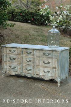 DIY:: BEAUTIFUL FRENCH DRESSER MAKEOVER -