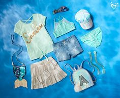 Introducing a collection inspired by ocean vibes. Cute Girl Outfits, Kids Outfits Girls, Tween Girls, Cute Girls, Summer Outfits, Justice Girls Clothes, Justice Clothing, Justice Backpacks, Ashley Clothes