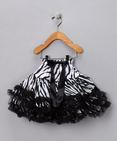 Take a look at this Black & White Zebra Pettiskirt - Infant, Toddler & Girls  by Sparkle Couture on #zulily today!