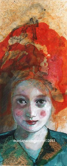 Princess Original mixed media painting by by MariaPaceWynters, $80.00