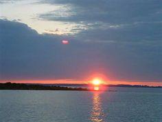 Sunset over Blewett Falls Lake. Richmond County. North Carolina.