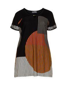 Doris Streich All-over print top  in Black / Orange