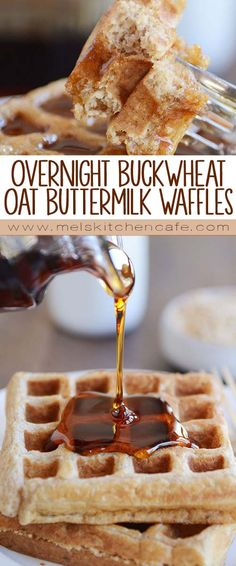 Overnight Buckwheat Oat Buttermilk Waffles or Pancakes