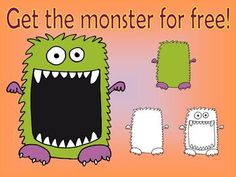 FREE  Halloween monster clip art for commercial use
