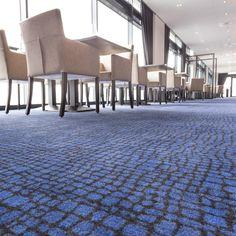 Worldhotel Wings maakt dankbaar gebruik van eigen dessins en kleuren in haar vloerbedekking. Geleverd door Leoxx