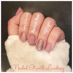 pinks and sparkles Nail Color Combos, Toe Nail Color, Color Street Nails, Nail Colors, Trendy Nails, Chic Nails, Light Nails, Happy Nails, Sparkle Nails