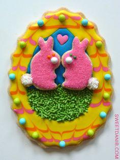 Easter Egg Bunny Diorama Cookie  http://sweetdanib.com/2012/03/easter-egg-cookie-dioramas/