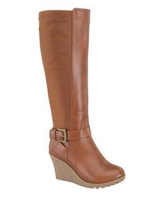 Love this Tan Jessy Stretch-Back Boot on #zulily! #zulilyfinds