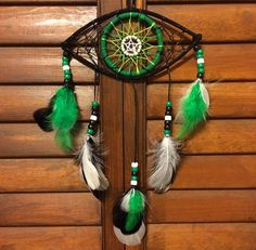 Green eye dream catcher