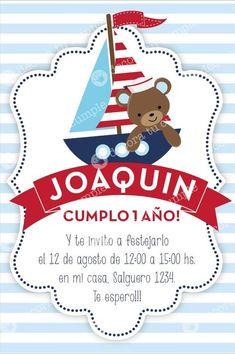 invitaciones infantiles marinero - Buscar con Google Baby Showers Marinero, Baby Shower Parties, Baby Boy Shower, Sailor Baby Showers, Sailor Party, Navy Birthday, Baby Event, Bear Party, Nautical Party