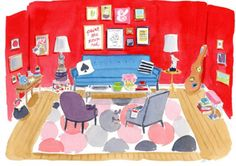 #Caitlin McGauley #watercolors #illustrations #Kate Spade