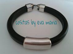Pulsera cuero  Facebok: cositas by eva maria