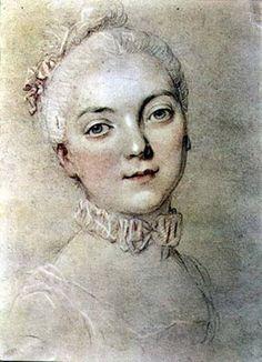 Madame du Barry (1743-1793), late 1760's by Francois-Hubert Drouais