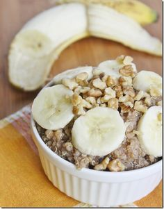 Banana Breakfast Quinoa - little heavy and I used honey and could only eat 1/4 of the recipe and felt too full after that but otherwise good.