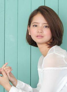 ナチュラルライトボブ 【BRIDGE】 http://beautynavi.woman.excite.co.jp/salon/21483?pint ≪…