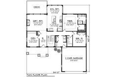 Ranch Style House Plan - 2 Beds 2.00 Baths 1734 Sq/Ft Plan #70-1209 Floor Plan - Main Floor Plan