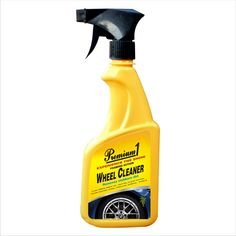 PREMIUM WHEEL CLEANER Removes grime, grit and brake dust from all Factory wheel surfaces with the Premium1 Wheel  Cleaner. This cleaner features unique foaming agents designed to cling to vertical surfaces and break down stubborn road residue between your wheels. Safe for all factory, clear-coated and painted wheels