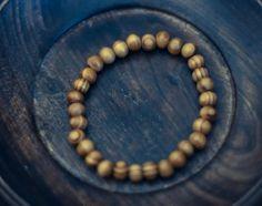 Brown Striped Wood Bracelet by WoodYouWear on Etsy, $5.00