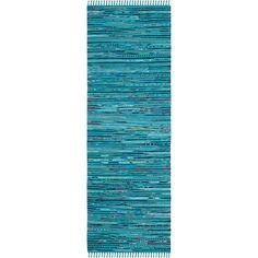 2'3X5' Spacedye Design Woven Runner Turquoise - Safavieh, Turquoise/Multi-Colored