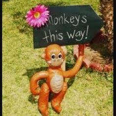 Ro's 1st birthday monkey theme