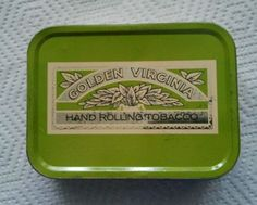 2oz tin of Golden Virginia - I remember these tins in school, they were used to keep the plasticine inside.