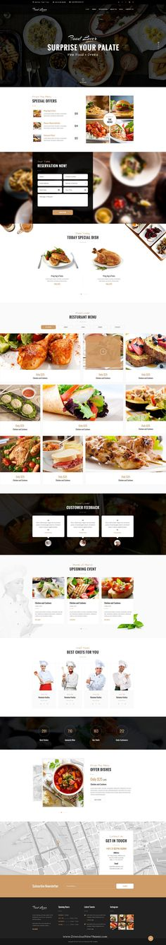 Food Lover #Restaurant PSD Template Based on Bootstrapís and Foundation 12 column Responsive grid Template. #psdtheme