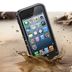 Perfect ontworpen, cool allround hardcase hoesje, waterdicht, met reinigingsdoekje, voor iPhone 5/5S (verschillende kleuren) - EUR � 6.93