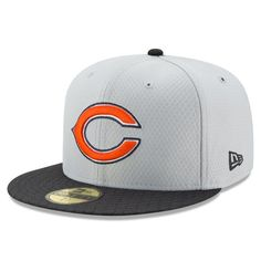 Chicago Bears New Era 2017 Sideline 59FIFTY Fitted Hat - Gray - $39.99