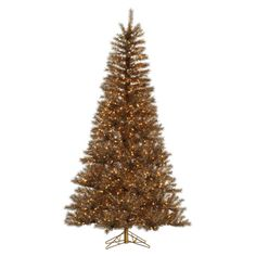 Vickerman 4.5 ft. Metal Mix Tinsel Pre-lit Christmas Tree - A149046