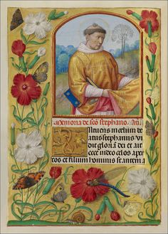 Workshop of the Master of the First Prayer Book of Maximilian, Saint Stephen. From the Spinola Hours (Bruges and Ghent, 1510 - 1520). MS. LUDWIG IX 18, FOL. 253V