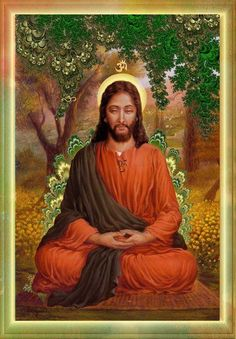 "Buddha/Jesus. Some write that Jesus studied Buddhism in adolescence in India during his ""lost"" years. Makes sense. Lovely work of art."